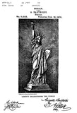 1879 - Statue of Liberty - New York - A. Bartholdi - Patent Art Poster