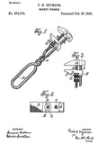 1883 - Monkey Wrench - F. H. Seymour - Patent Art Poster