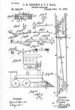 1883 - Switch Operator - J. H. Kennedy - Patent Art Poster