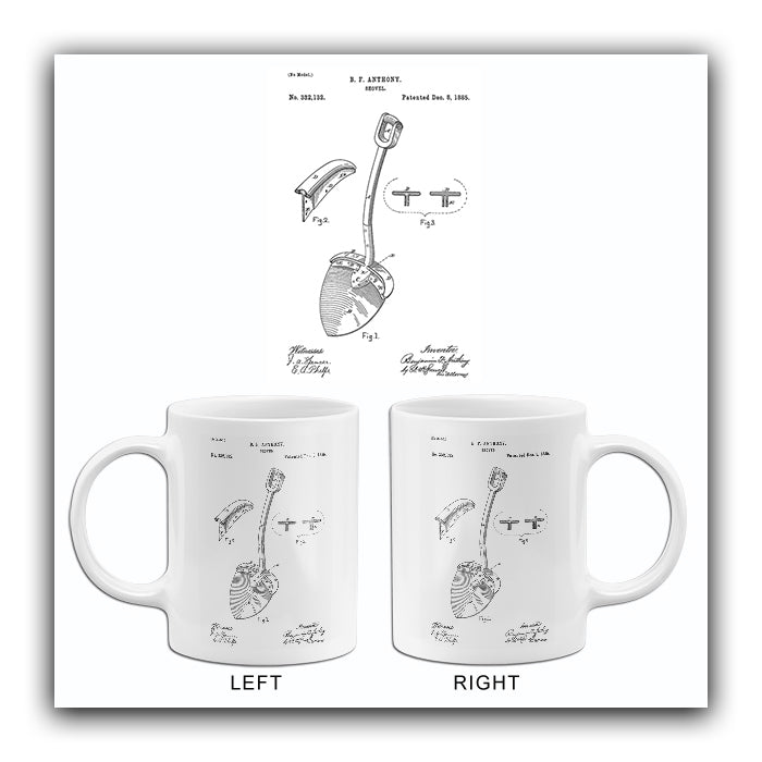 1885 - Shovel - B. F. Anthony - Patent Art Mug