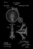 1885 - Bicycle - G. W. Marble - Patent Art Poster