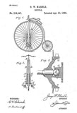 1885 - Bicycle - G. W. Marble - Patent Art Mug