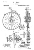 1887 - Bicycle - C. A. Bouck - Patent Art Poster