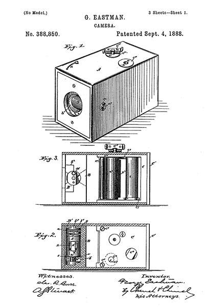 1888 - Camera - G. Eastman - Patent Art Mug
