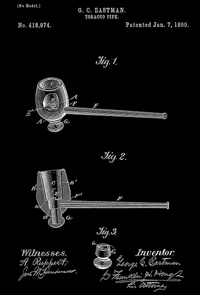 1890 - Tobacco Pipe - G. C. Eastman - Patent Art Poster