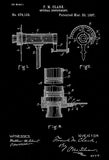 1897 - Optical Instrument - Eye Clinic - Optometrist - F. M. Clark - Patent Art Poster