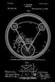1897 - Unicycle - T. Tolson - Patent Art Poster