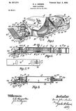 1900 - Hair Clipper - D. J. Archer - Patent Art Poster