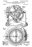 1902 - Stellar Compass & Great Circle Course Projector - R. T. Lawless - Patent Art Poster