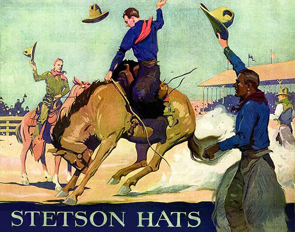 1902 Stetson Hats - Promotional Advertising Magnet