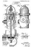 1903 - Fire Hydrant - A. O. Babendreier - Patent Art Poster
