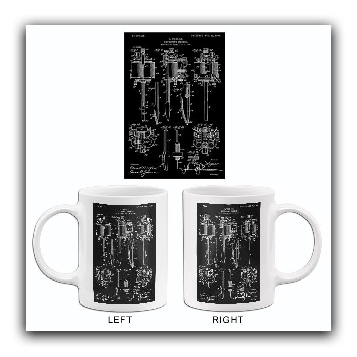 1904 - Tattooing Device - C. Wagner - Patent Art Mug