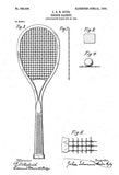 1904 - Tennis Racket - J. E. H. Hyde - Patent Art Poster