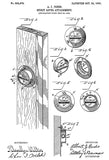 1905 - Spirit Level Attachment - A. J. Perks - Patent Art Poster