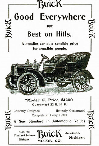 1905 Buick Model C - Promotional Advertising Poster