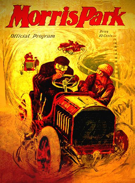 1905 Morris Park Auto Racing - Program Cover Mug