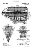1908 - Flying Machine - H. B. Schiller - Patent Art Poster