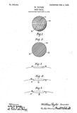 1908 - Golf Ball - W. Taylor - Patent Art Poster