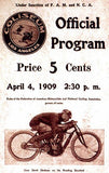 1909 Los Angeles Coliseum Motorcycle Races - Program Cover Magnet