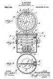 1910 - Marine Compass - Nautical - H. Hertzberg - Patent Art Poster
