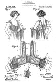 1915 - Bust Reducer Brassiere - M. Perillat - Patent Art Poster