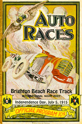 1915 Auto Races - Brighton Beach Race Track  - Program Cover Poster