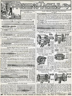 1916 Sears Roebuck - Fishing Tackle Catalog - Advertising Magnet
