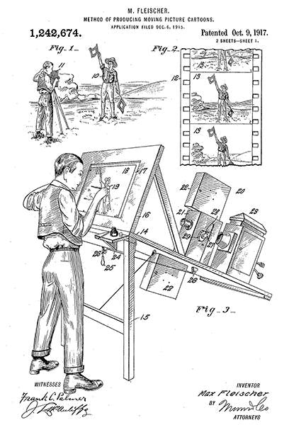 1917 - Rotoscope - Moving Picture Cartoons - M. Fleischer - Patent Art Mug