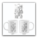 1919 - Automatic Machine Rifle - J. M. Browning - Patent Art Mug