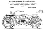 1919 - Harley-Davidson Motorcycle - Designed by A. Ziska Jr. - Patent Art Mug