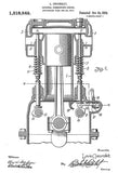 1919 - Internal Combustion Engine - L. Chevrolet - Patent Art Mug