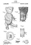 1920 - Teddy Bear - Toy Animal - J. Levine - Patent Art Mug