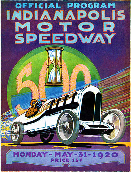 1920 Indy 500 - Indianapolis Motor Speedway - Program Cover Poster