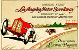 1920 Los Angeles Motor Speedway - Program Cover Mug
