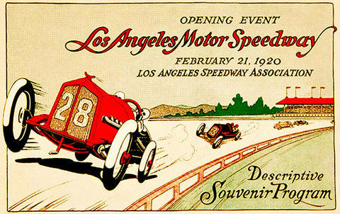 1920 Los Angeles Motor Speedway - Program Cover Poster