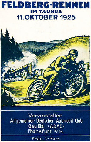 1925 Feldberg-Rennen - Hillclimb - Taunus Germany - Program Cover Poster
