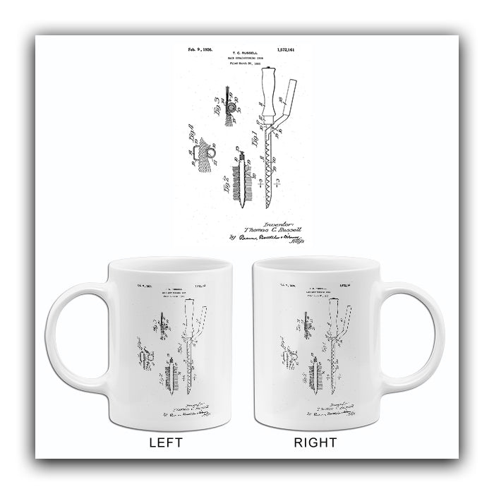 1926 - Hair Straightening Iron - T. C. Russell - Patent Art Mug