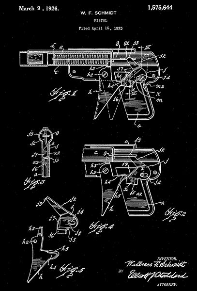 1926 - 33 Repeater Space Ray Gun Wyandotte - All Metal Products - Patent Poster