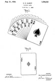 1926 - Playing Cards - C. E. Albert - Patent Art Poster