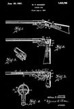 1927 - Spring Gun - W. F. Schmidt - Wyandotte - All Metal Products - Patent Art Poster