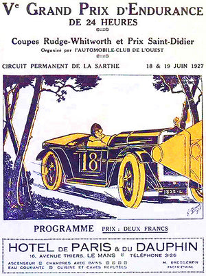 1927 24 Hours of Le Mans - Program Cover Poster