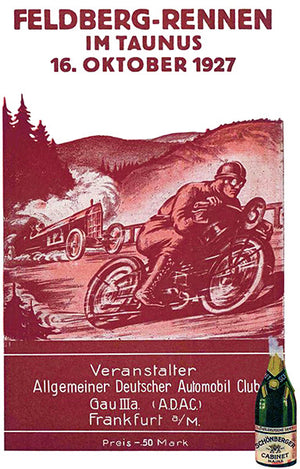 1927 Feldberg-Rennen - Hillclimb - Taunus Germany - Program Cover Poster