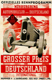 1927 German Grand Prix Auto Race - Nürburgring - Program Cover Poster