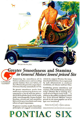 1928 Pontiac Six - Promotional Advertising Poster