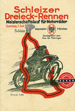 1928 Schleiz Championship Run Motorcycle Race - Program Cover Poster