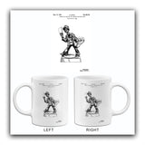 1929 - Cigarette & Match Holder Ash Tray - M. Cohen - Patent Art Mug