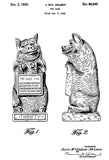 1929 - Toy Piggy Bank - J. McC Nelson - Patent Art Poster
