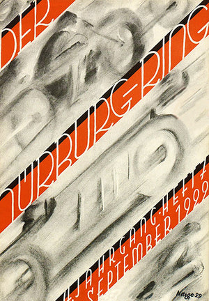 1929 Der Nurburgring Motorcycle & Auto Racing Magazine - Cover Poster