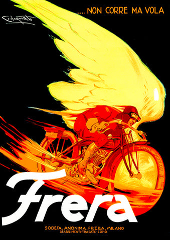 1929 Frera Motorcycles - Milano Italy - Promotional Advertising Poster