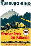 1929 German Grand Prix Auto Race - Nurburgring - Program Cover Mug